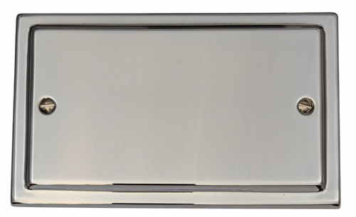 G&H TC32 Trimline Plate Polished Chrome 2 Gang Double Blank Plate